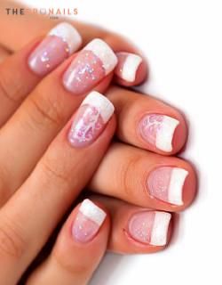 The Star Nails Full Set Pink White